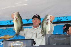 Utah pro  Benjamin Byrd said he believes that the day-one weather helped him by pulling fish out of deep cover.