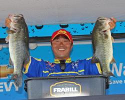 Fourth-place pro Toshitada Suzuki used crankbaits and chatterbaits on day two.
