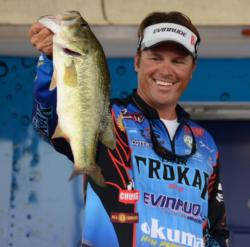 Scott Martin found a solid kicker on the third day of competition on Lake Eufaula.
