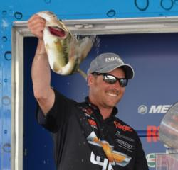 Bryan Thrift rallied from seventh to second Sunday after catching a 16-pound, 14-ounce limit.