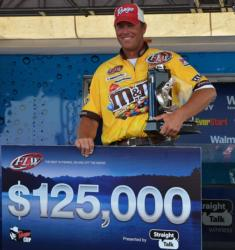 For winning the FLW Tour event on Lake Eufaula, pro Randy Haynes earned $125,000.