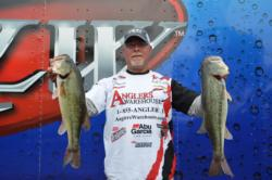 After day one, Keith Honeycutt leads the co-anglers with 17 pounds, 11 ounces.