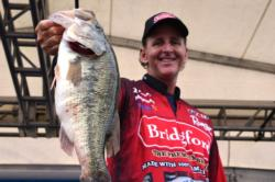 Randy Blaukat of Joplin, Mo., snared fourth place overall with a total catch of 20 pounds, 3 ounces during the first day of Grand Lake competition.