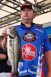 FLW Tour co-angler Mark Horton of Nicholasville, Ky., finished the day in second place on Grand Lake.
