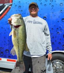James Mignanelli of Harmony, Pa., claimed the co-angler 3M Peltor Big Bass award on day two with a 5-pound, 12-ounce giant.