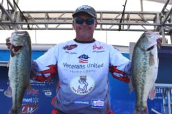 Based on a total, two-day catch of 37 pounds, 14 ounces, Robbie Dodson of Harrison, Ark., leapfrogged from eighth to second place overall.