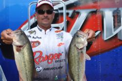 Todd Auten of Wylie, S.C., slipped from third to fourth after today's competition but is still only about 4 pounds off the lead with two days of competition remaining.