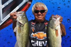 Chevy team pro Jimmy Houston of Cookson, Okla,, qualified for the semifinals on Grand Lake in fifth place.