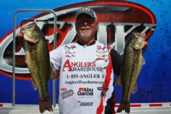 Co-angler Keith Honeycutt of Temple, Texas, held onto the top spot on the leaderboard for a second consecutive day.