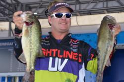 Pro Barry Wilson of Birmingham, Ala., stands in second place overall heading into Sunday