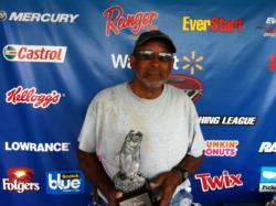 Co-angler Hubert Roman of Lexington, N.C., won the June 8 BFL Piedmont Division event on Badin Lake with a total catch of 21 pounds, 2 ounces.