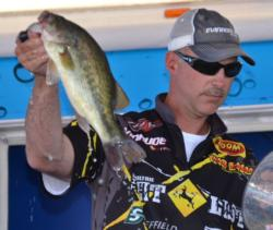 Andy Morgan of Dayton, Tenn., finished the Grand Lake event in seventh place but took over the top spot in the 2013 FLW Tour Angler of the Year race.