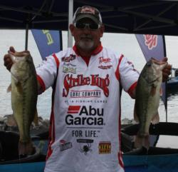 Keith Amerson finished fourth on day one with 20 pounds.