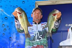 Texas-rigged stick baits were the primary tool for fourth-place Robert Grike.