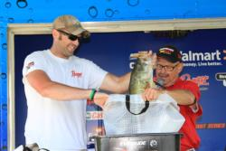 Aggressive presentations were essential on day three for top co-angler Josh Demaury.