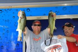 Shaky heads and frogs were the productive baits for third-place David Williams.