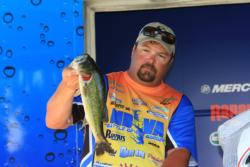 Fourth-place co-angler  Lenny Baird threw a frog all of day three.