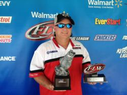 Co-angler Jason Mitchell of Aberdeen, Miss., won the June 22 Mississippi Division event on Lake Ferguson with a limit weighing 9 pounds, 13 ounces. He cashed a check worth over $1,800 for his efforts.