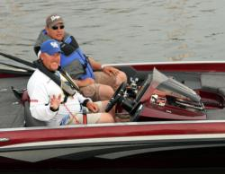 Local boater  Corey Bradley will focus on deep water today.