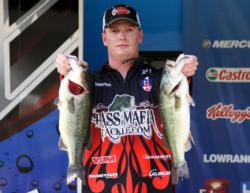 In second place on the Boater side Shawn Gordon, of Russellvill, Ark. bagged 18-12.