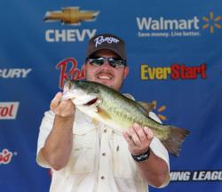 Will Terrell leads the co-angler division by a 6-ounce margin.