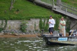 Gustafson worked both shallow and deep to catch 18-5 on day one.
