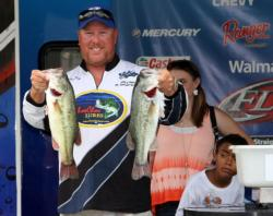Local boater Corey Bradley moved up to fifth place on day two.