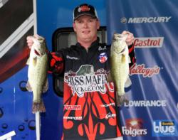 Fourth-place boater Shawn Gordon found flipping most productive.