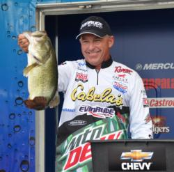 Clark Wendlandt rallied to second place after catching a 22-pound, 14-ounce stringer Friday.