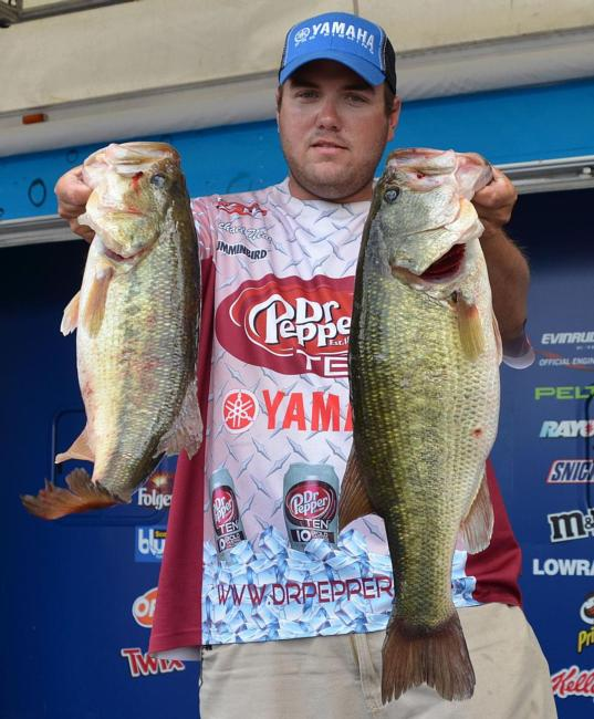 Local pro Michael Neal rose to third after catching 22 pounds, 14 ounces Friday.