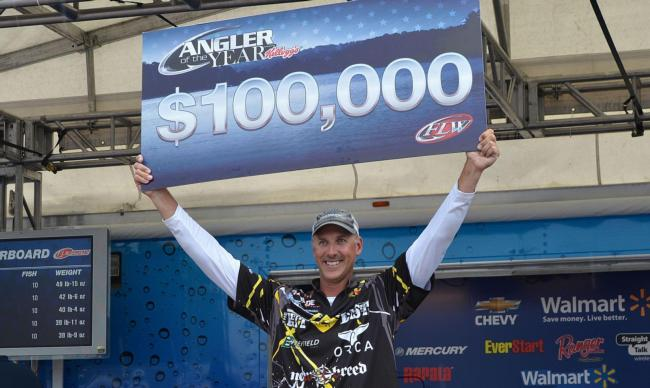 For winning Angler of the Year, Andy Morgan earned $100,000.