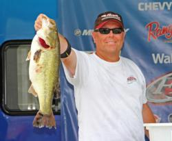 Co-angler David Williams caught the day