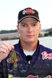 Flipping a jig will be the dominant tactic for fourth-place boater Shawn Gordon.