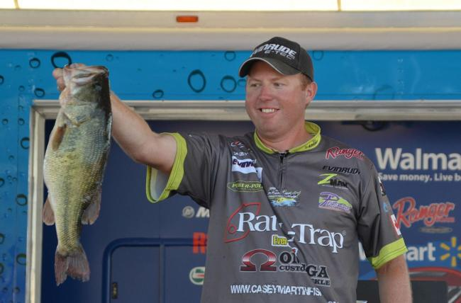 Pro leader Casey Martin sacked 23 pounds, 3 ounces Saturday and gave himself a 10-pound lead heading into the final day of competition.