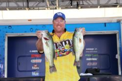 Local boater  Corey Bradley fished deep and took third place.