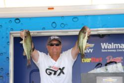 Fourth-place co-angler  David Williams caught his fish with a trick worm on a slider head jig.