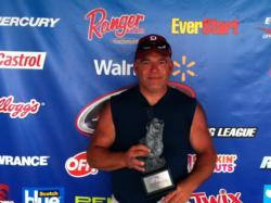 Co-angler Sal Messina of Waterbury, Conn., won the July 13 Walmart BFL Northeast Division event on Oneida Lake with a total catch of 14 pounds, 11 ounces. Messina netted over $2,000 for his efforts.