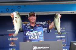 Keystone Light pro Chad Grigsby trails second place by just 3 ounces.