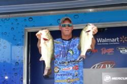 Working soft plastics slowly through the grass put Derick Olson in fifth place on the pro side.