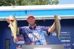 Keystone Light pro Chad Grigsby moved up to second on day two.