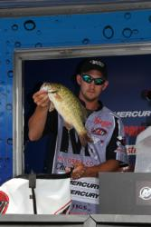 Second-place co-angler Bryan New moved up from fifth place in the final round.