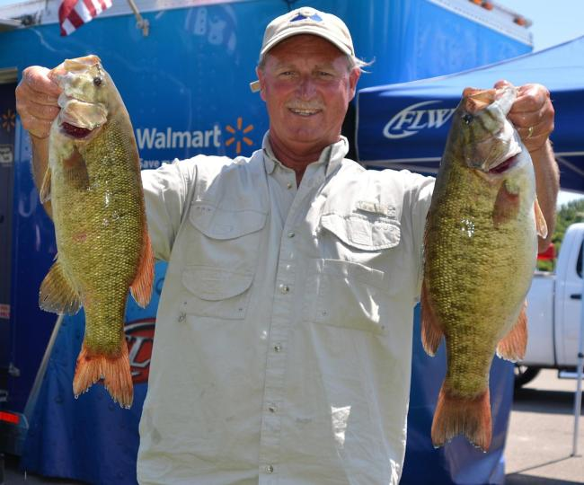 Rick Taylor caught a 21-pound, 12-ounce limit for fourth place on day one.