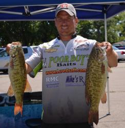 Ryan Said is tied for fifth place after day one with 21 pounds, 9 ounces.