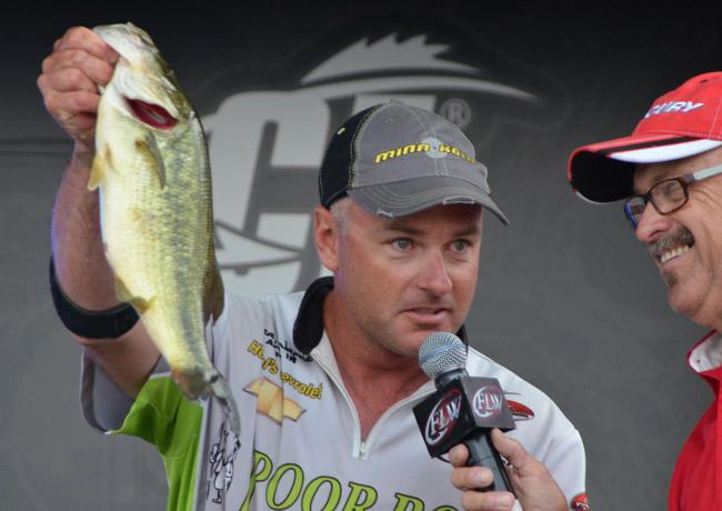 Heath Wagner slipped from first to third after catching 13 pounds, 4 ounces on day three.