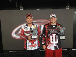 The Indiana University team of Sean Gillenwater of Bloomington, Ind., and Josh Collier of Ellettsville, Ind,, won the 2013 FLW College Fishing Central Conference Invitational on the Detroit River.