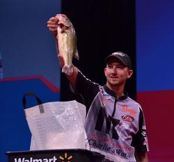 Co-angler Bryan New took fourth place with a two-day total of 17-5.