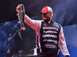 Brock Mosley grabs the runner-up position for the co-anglers with 19-1 for two days of fishing.