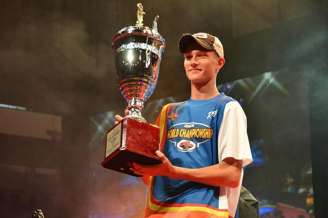 In the 11 to 14 age bracket, Luke Loewe, 14, of Wisconsin, captured the TBF Junior World Championship title.