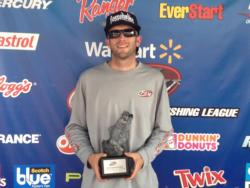 Co-angler Lawrence Aucoin of Durham, N.C., won the North Carolina Division Super Tournament on High Rock Lake held Sept. 7-8 with a two-day total weight of 24 pounds, 5 ounces. He was awarded nearly $2,600 for his efforts.
