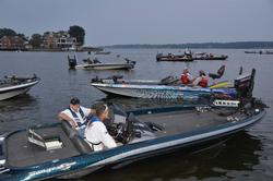 EverStart Series anglers await the start of the final regular season event of the 2014 season on the Chesapeake Bay.